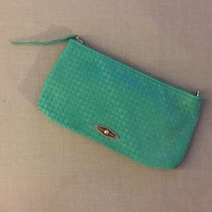 Elliott Lucca Leather Weave Crossbody / Clutch